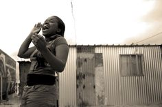A candid moment of joy. Gugulethu Township, South Africa.