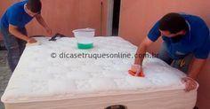 Limpeza colchao encardido