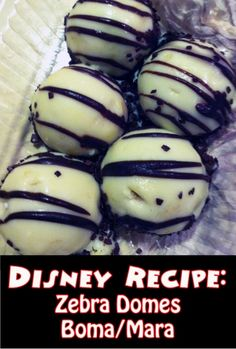 The recipe of how to make Zebra Domes from Boma at Disney's Animal Kingdom Lodge.