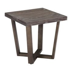 Zuo Brooklyn Side Table Gray Oak A.Brass