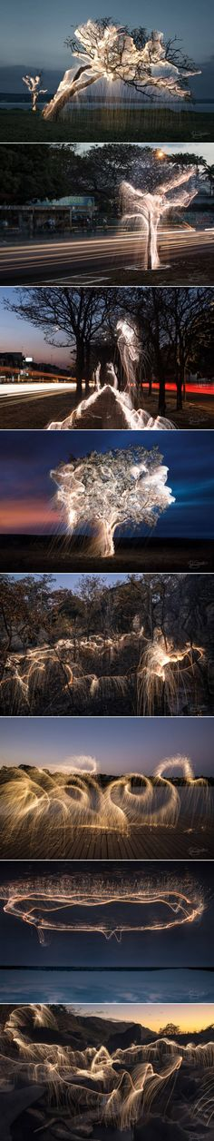 Light Painting Photography in Nature and Cities