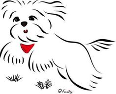New Dogs Maltese Draw 70 Ideas Cute Animal Drawings, Cute Drawings, Crochet Placemat Patterns, Watercolor Pencil Art, Easy Arts And Crafts, Dog Wallpaper, Dog Silhouette, Cartoon Dog, Disney Drawings