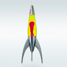 TELSTAR LAVA LAMP YELLOW/ORANGE The Telstar design is inspired by the space race fever that gripped the 1960s. http://www.wallsloveart.co.uk/shop/on-the-shelf/mathmos-telstar-rocket-shaped-lava-lamp-yellow-red