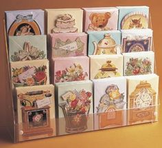 Card Displays, Postcard Displays, Mini Card Displays : Acrylic / Perspex Card Display Stands