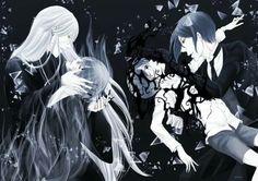 Black butler, Kuroshitsuji, Undertaker, Ciel Phantomhive, Sebastian Michaelis