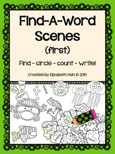 Students find, circle, count & write all first grade Dolch sight words in this Find-A-Word bundle