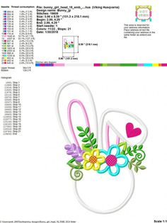 Machine Embroidery Applique, Embroidery Files, Embroidery Designs, Cute Stitch, Bunny Face, Needle And Thread, All Design, Easter Bunny, Coupon Codes