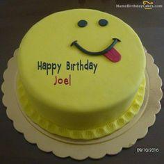 Smiley face cake  (Joel)