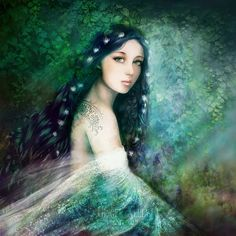 Items similar to Fairy tale Art Print Elf, Goddess Blue Green Ethereal Woman Fantasy Portrait 'Changeling' Shapeshifter Magic Mythical Fae Illustration on Etsy Fantasy Portraits, Fairytale Art, Believe In Magic, Fantasy Illustration, Beautiful Images, Beautiful Things, Fantasy Art, Fantasy Fairies, Fantasy Paintings