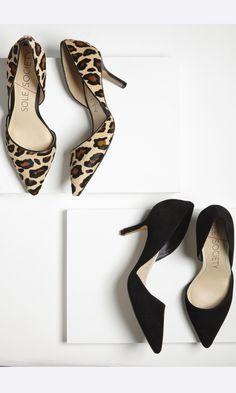 Jenn d'Orsay mid heel - Leopard & Black | Sole Society
