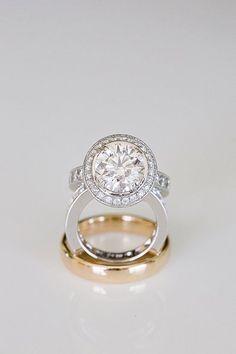 Engagement Rings & Wedding Rings  :   Illustration   Description   White gold halo engagement ring  ~  we ❤ this! moncheribridals.com #engagementrings    - #EngagementsRings