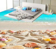3d Flooring, Floor Murals, Sea Shells, Taco Shop, Interior Design, Luxury, Wallpaper, Comforter, Outdoor Decor