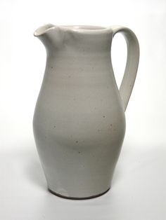 White linen pitcher by Jay Wiese