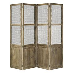 This screen from Terrain would be an ideal way to partition off a private nook in a studio apartment.
