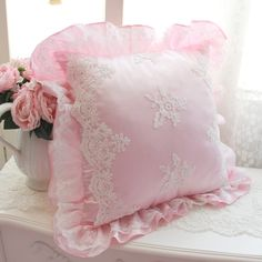 Cheap lace lamp, Buy Quality lace wedding dresses vintage directly from China lace nursing Suppliers: Hot luxury romantic embroidery lace cushion wedding decoration square throw pillow waist ruffle cushions bedroom textile sale