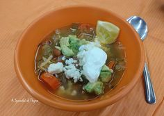 A Spoonful of Thyme: Mexican Cabbage Soup, Olé! - A Healthy Choice - #soupswappers
