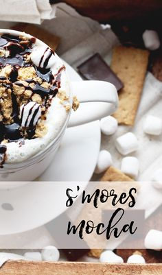 S'mores & Mocha make our tastebuds fall in :purple_heart:  S'mores Mocha Coffee Recipe // stephanieorefice.net