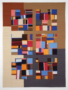 "Motif #3, 48 x 35"", by Allegra Brelsford — Textile Study Group of New York"