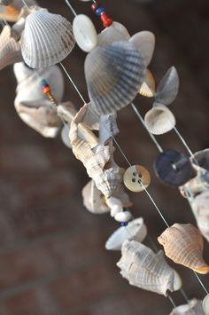 seashore chimes - shells, beads,  buttons