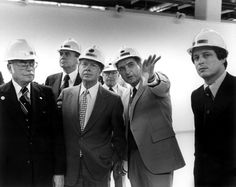 President Jimmy Carter visits Oak Ridge on May 22, 1978. In this photo, he is accompanied by then-U.S. Rep. Al Gore, far right. Talking to the President is Union Carbide executive Ken Sommerfeld.  ~ Department of Energy archives