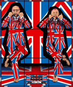 Gilbert & George are a talented duo on the British art scene, never afraid to court controversy with their bold work.
