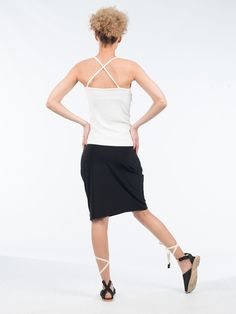 Keep your look simplistic yet modern with this Spaghetti strap blouse. Spring or summer will be the season to show off this piece. It has a straight cut , with ruffling detail along the neckline and spaghetti straps, and is a comfortable fit Straight Cut, Spaghetti Straps, Ballet Skirt, Neckline, Seasons, Detail, Blouse, Spring, Fitness