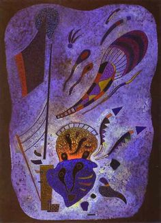 Painter Wassily Kandinsky. Painting. Twilight. 1943 year