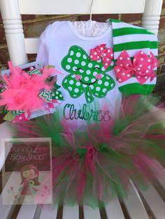 St. Patrick de dag Outfit voor meisjes - Ierse ogen zijn glimlachen - zoete shamrock tutu outfit, lachend klavertje in groene en warm roze