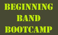 Great site for reinforcing beginning lessons! Using this at school and encouraging my students to use at home. www.beginningbandbootcamp.com