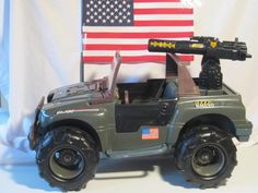 Johnny got this for his 5th birthday.  We went down the shore to Mack and Manco's for his birthday dinner (on the boardwalk in OC NJ)  YUM & FUN!!! http://www.ebay.com/itm/1993-Hasbro-Rhino-GI-Joe-Army-Jeep-by-Tonka-Hard-plastic-/271289945399?hash=item3f2a240d37
