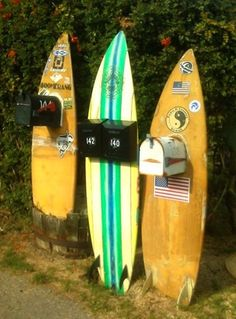 up cycled surf boîte aux lettres