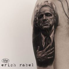 Badass B&G #Godfather #tattoo by @erichrabel! #doncorleone #tattoodo