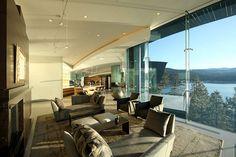 Main floor of 43 million dollar house on Lake Tahoe