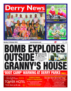 Derry News 13 October 2014 edition - Read the digital edition by Magzter on your iPad, iPhone, Android, Tablet Devices, Windows 8, PC, Mac and the Web.