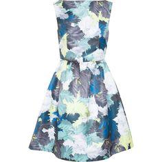 Erdem Floral Print Kenya Dress (400 CAD) ❤ liked on Polyvore featuring dresses, vestidos, short dresses, summer dresses, short summer dresses, floral mini dress, garden party dresses and short floral dresses