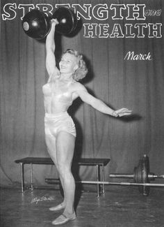 The mother of female bodybuilding fit, muscl, weight, 1950s, mother, strength training, bodybuilding, beauty, magazin
