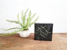 Gemini Painting - Glow in the dark Constellation - Zodiac Sign - Bedroom Decor - Zodiac Birthday - Glow in the dark stars
