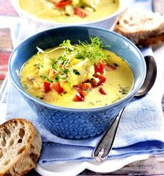 Lchf, Cheeseburger Chowder, Thai Red Curry, Stew, Good Food, Food And Drink, Low Carb, Healthy Recipes, Healthy Food