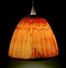 Beautiful WOOD lampshades by Peter Bloch. Love his stuff.