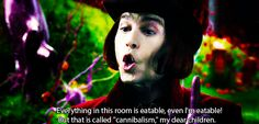 Johnny Depp as the wonderful, magical Willy Wonka in Charlie and The Chocolate Factory