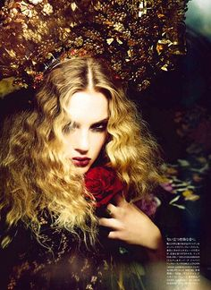 Flowers Of Desire: Isabel Scholten by Ellen von Unwerth for Vogue Japan July 2015 - Dolce&Gabbana Spring Summer 2015