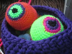 Crochet juggling balls Fluor Eyes