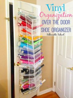 HTV and Vinyl Storage in an Over the Door Shoe Organizer (Bigger and Better)