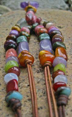 One of a kind, original hand made stone beads.