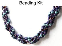 Necklace Beading Kit Blue Green Turquoise by SimpleBeadKits