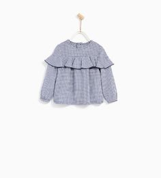 Image 1 of GINGHAM CHECK SHIRT WITH FRILL from Zara