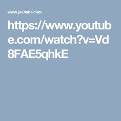 https://www.youtube.com/watch?v=Vd8FAE5qhkE