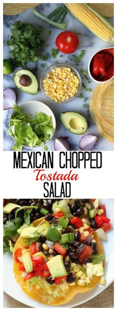 Mexican Chopped Tostada Salad - Hello Healthy and Delicious! This is a favorite!