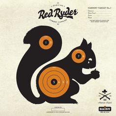 I miss my red ryder. and squirrels Paper Shooting Targets, Paper Targets, Pistol Targets, Field Target, Daisy Brand, Range Targets, Squirrel Hunting, Toys In The Attic, Late Birthday