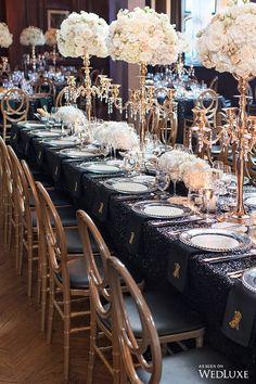 A Two-Day Celebration Inspired by the Jazz Age - WedLuxe Magazine Jazz Wedding, Great Gatsby Wedding, 1920s Wedding, Dream Wedding, Wedding Reception, 1920s Party, Gatsby Party, Old Hollywood Wedding, Old Hollywood Glam